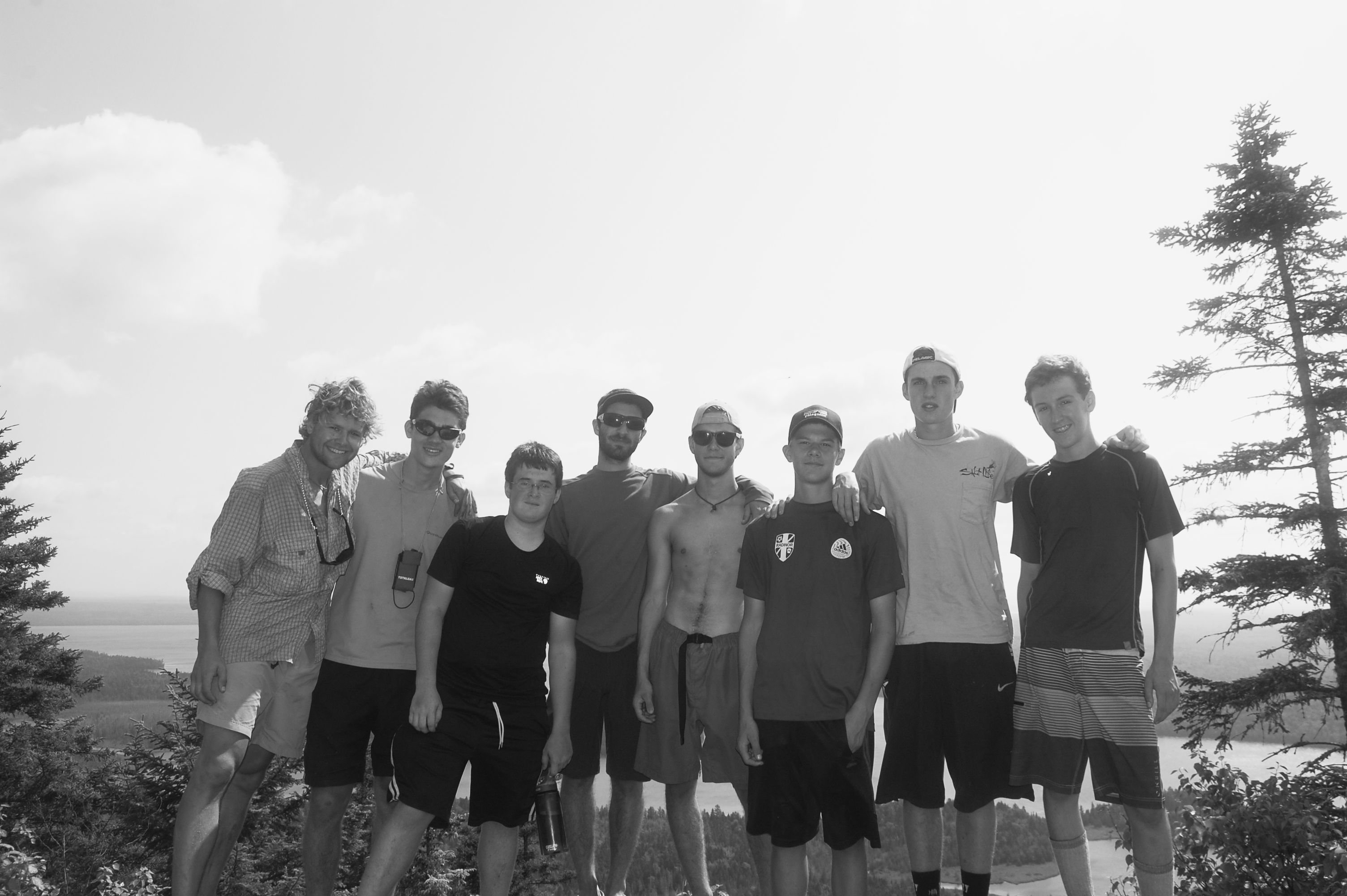 2013 Expedition Campers and Leaders: Sumner Ford, Alex, Tommy, Ben Schachner, Byron, Justin, Gray, and Noah.